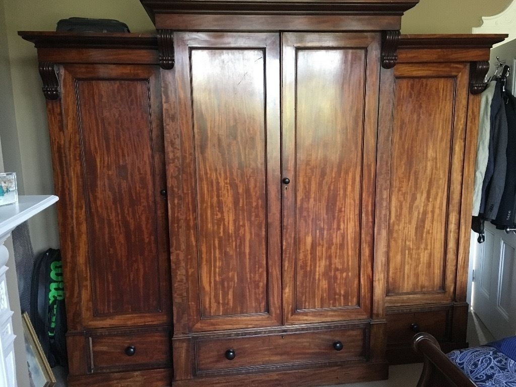 15 Ideas Of Breakfront Wardrobe Pertaining To Famous Victorian Mahogany Breakfront Wardrobes (View 1 of 15)