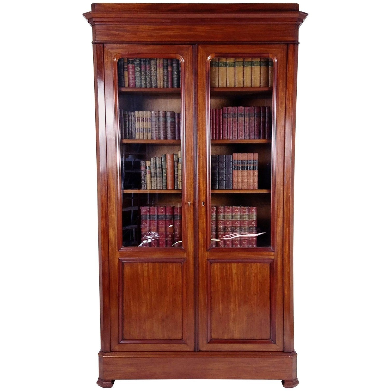 19Th C. French Mahogany Library Flat Pack Bookcase (C (View 1 of 15)