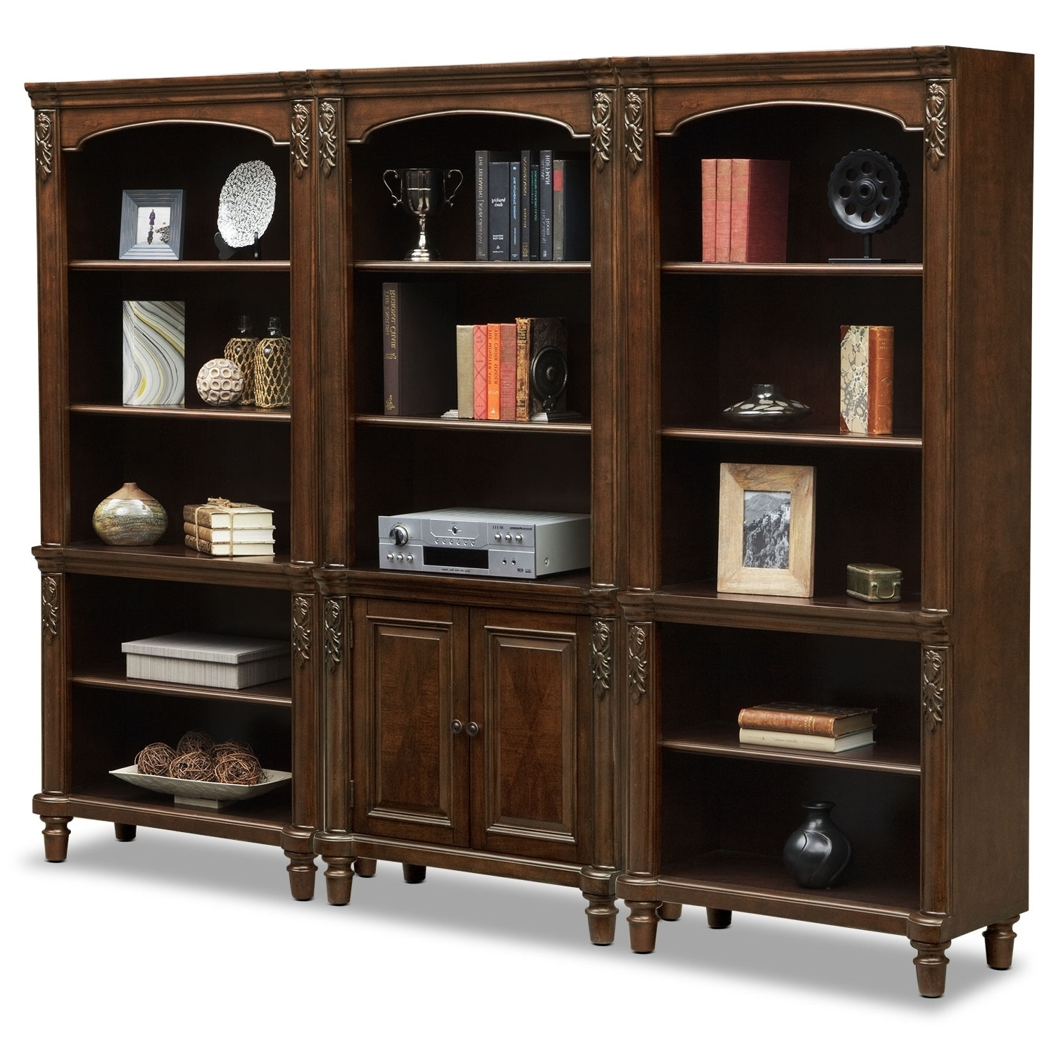 2017 Ashland Wall Bookcase – Cherry (View 1 of 15)