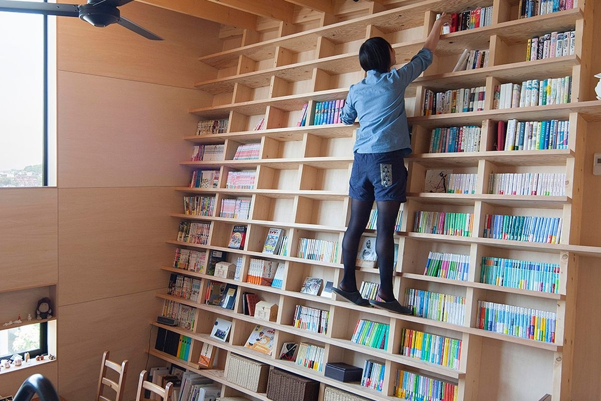 2017 Bookcases With Ladder Regarding Unfinished Wood Furniture Bookcases And For Small Rooms As Well (View 1 of 15)