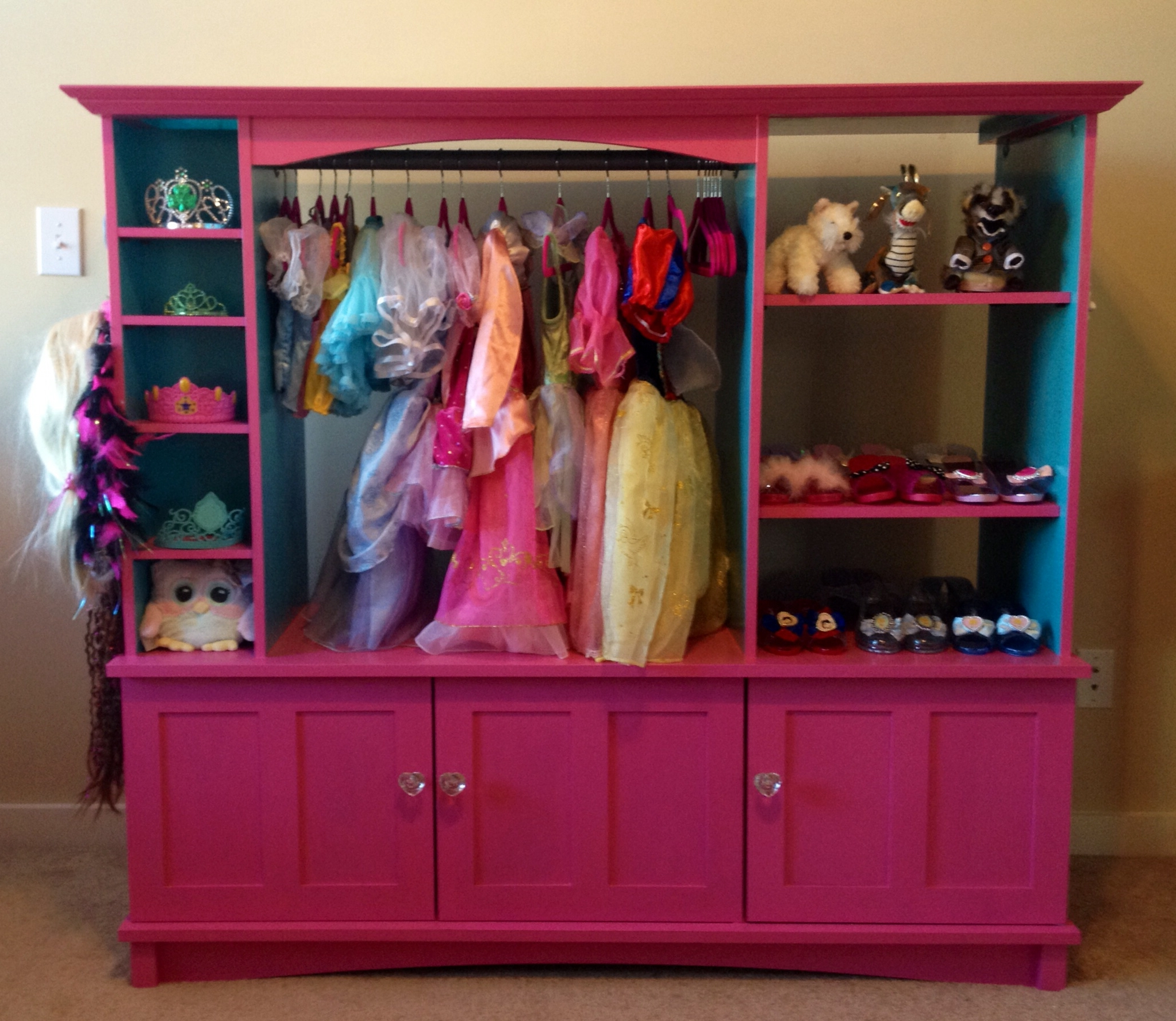 2017 Dress Up Closet Made Out Of An Old Entertainment Center (View 1 of 15)