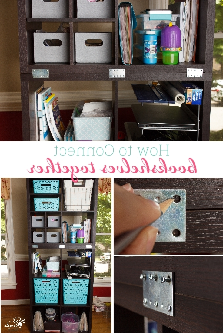 2017 Free Standing Bookshelves In How To Connect Freestanding Bookshelves Or Storage Shelves Together (View 12 of 15)