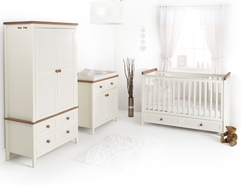 2017 Furniture: Clean White Designer Crib Bedding Sale Including White Pertaining To Cheap Baby Wardrobes (View 1 of 15)