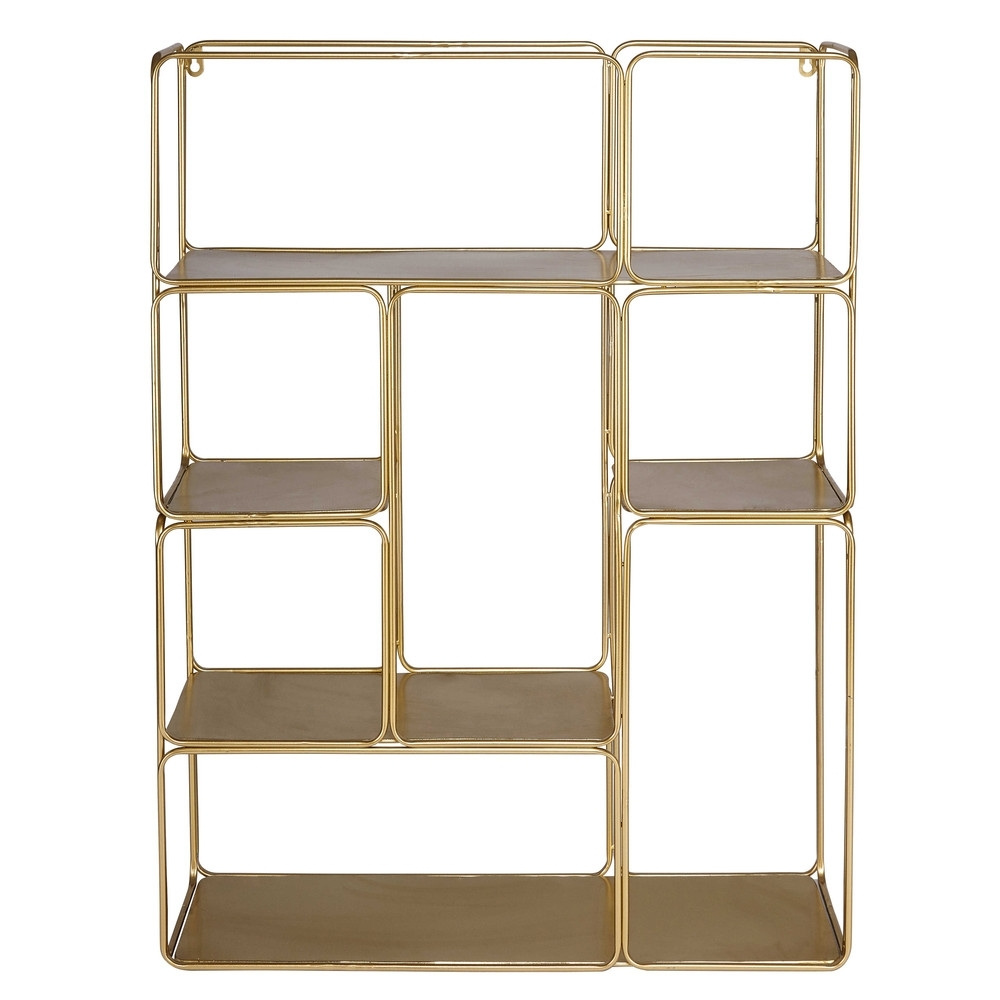 2017 Gold Metal Bookcases With Regard To Gold Metal Shelf (View 15 of 15)