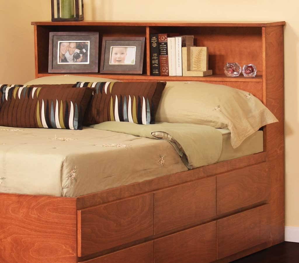 2017 Large King Size Bookcase Headboard : Doherty House – King Size Pertaining To King Size Bookcases Headboard (View 1 of 15)