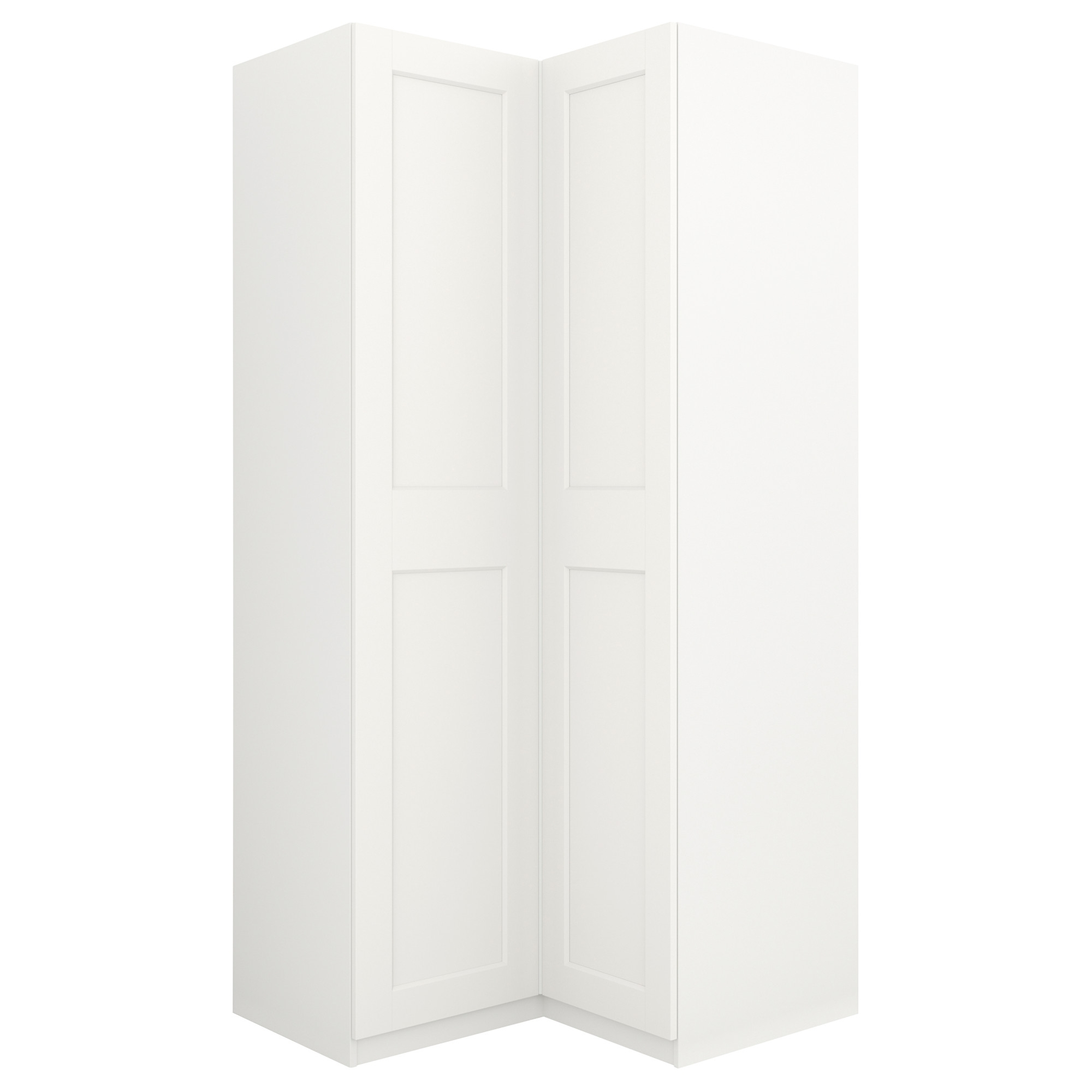 2017 Pax Corner Wardrobe White/grimo White 111/111X236 Cm – Ikea For Curved Corner Wardrobes Doors (View 1 of 15)
