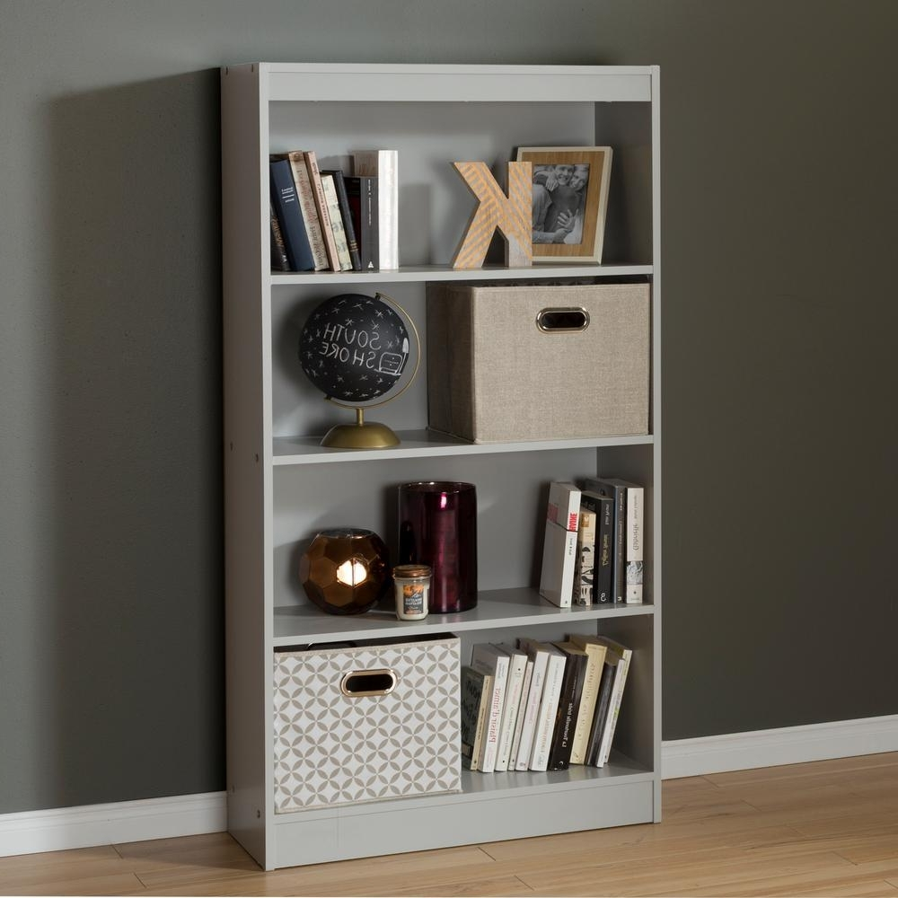 2017 South Shore Axess Soft Gray Open Bookcase 10136 – The Home Depot Pertaining To South Shore Bookcases (View 12 of 15)