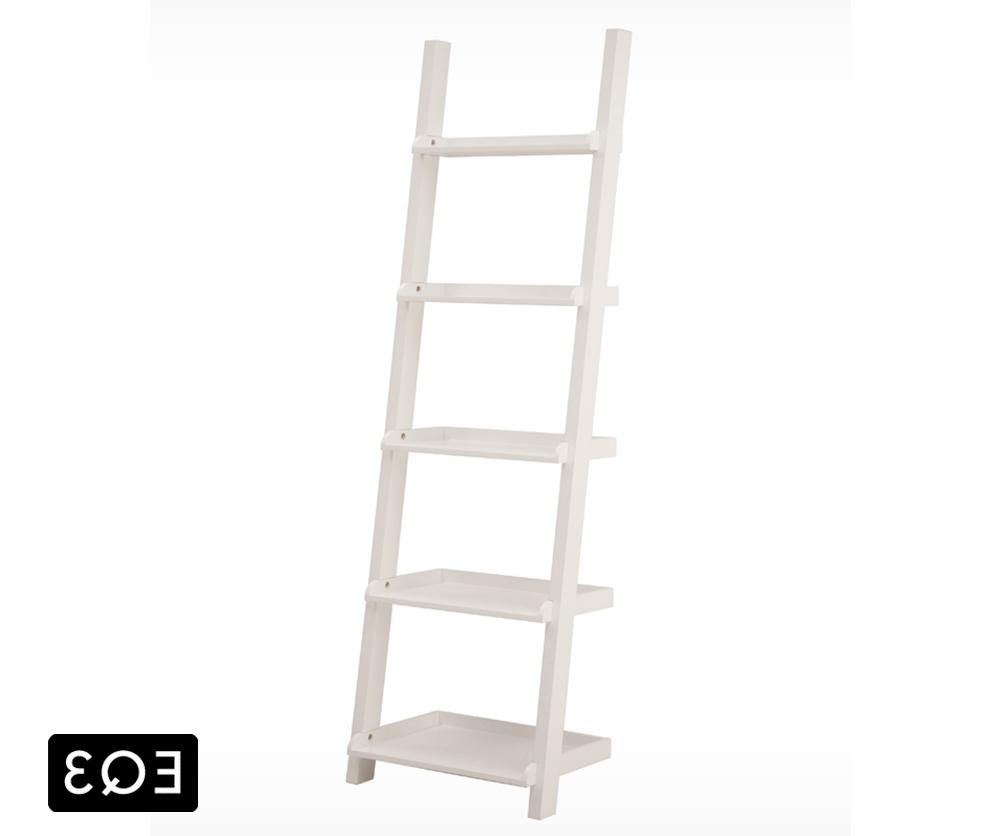 2017 White Ladder Shelf With Regard To Asterix 5 Step Ladder Shelf – Decorium Furniture (View 1 of 15)
