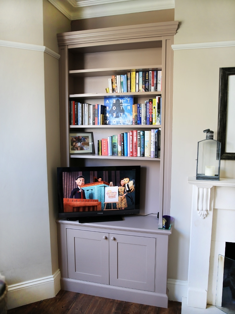 2018 5 Built In Fitted Bespoke Alcove Unit Bookcase Classic Traditional Throughout Traditional Bookshelves (View 4 of 15)