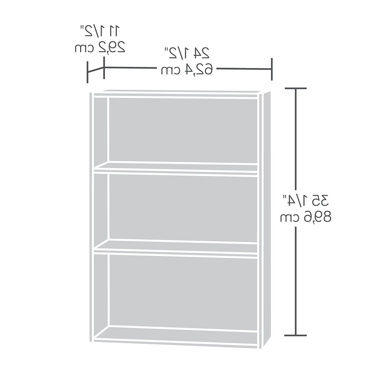 2018 Amazon: Sauder Beginnings 3 Shelf Bookcase, Highland Oak Pertaining To Sauder Beginnings 3 Shelf Bookcases (View 2 of 15)