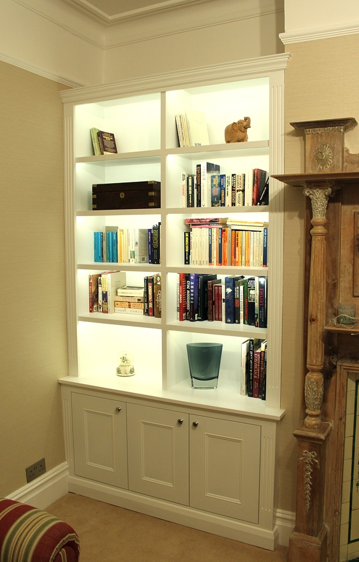 2018 Bookcases Lighting In Victorian Alcove Bookcase With Built In Led Lights (View 1 of 15)