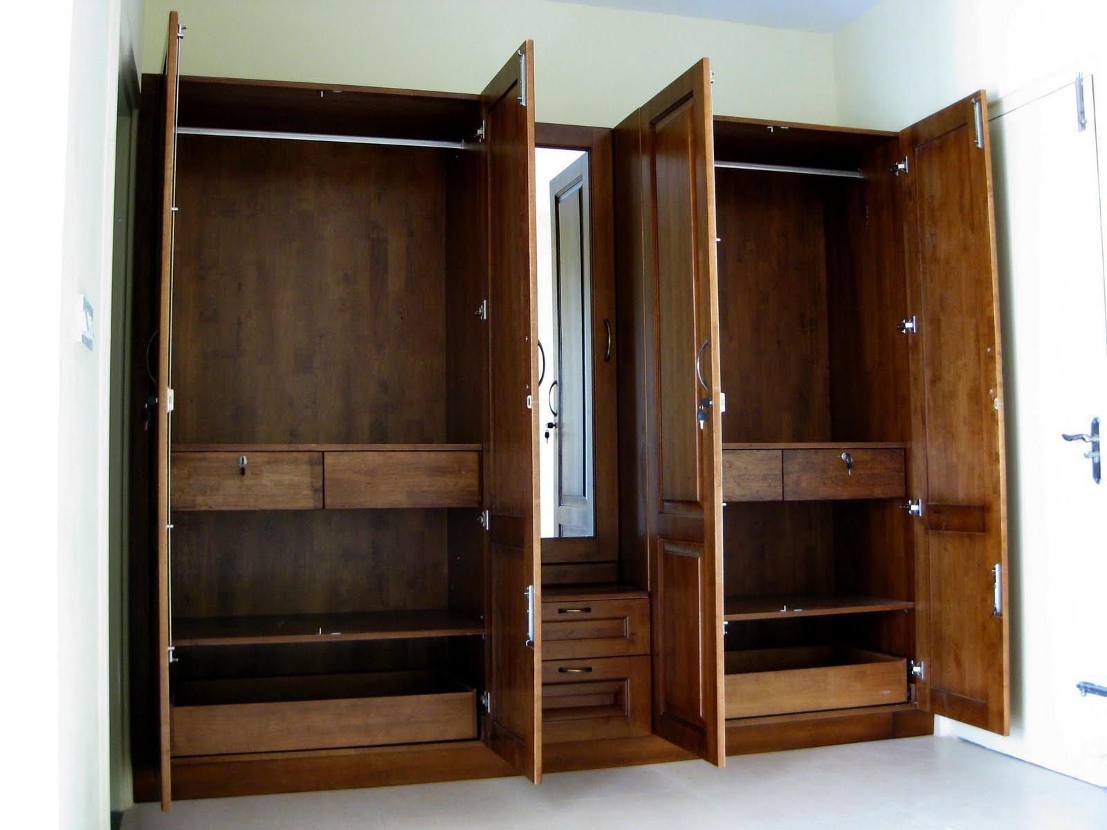 2018 Discount Wardrobes Pertaining To Furniture : White Mirrored Wardrobe Furniture Armoire Closet Large (View 2 of 15)