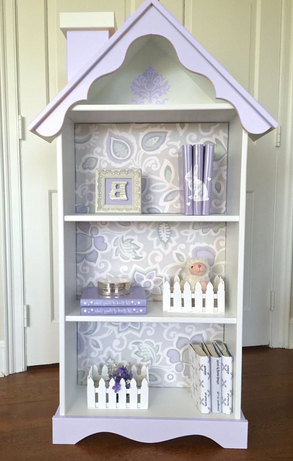 2018 Girls Bookcases Pertaining To Children's Doll House Bookcase, Custom Children's Dollhouse (View 7 of 15)