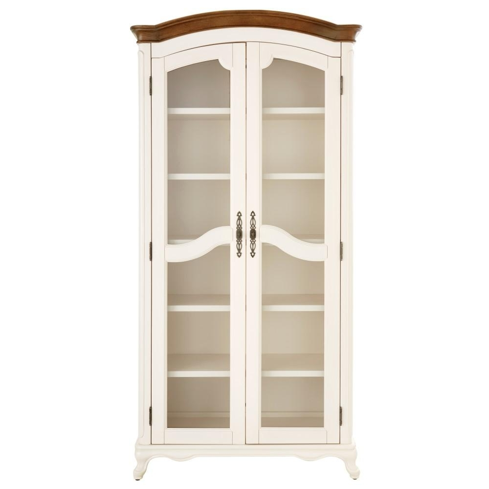 2018 Home Decorators Collection Provence Ivory Double Glass Door Throughout Glass Bookcases (View 1 of 15)