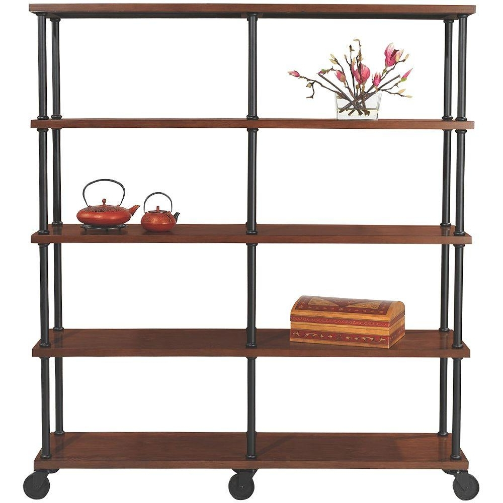 2018 Industrial Bookcases With Regard To Home Decorators Collection Industrial Mansard Black Open Bookcase (View 1 of 15)