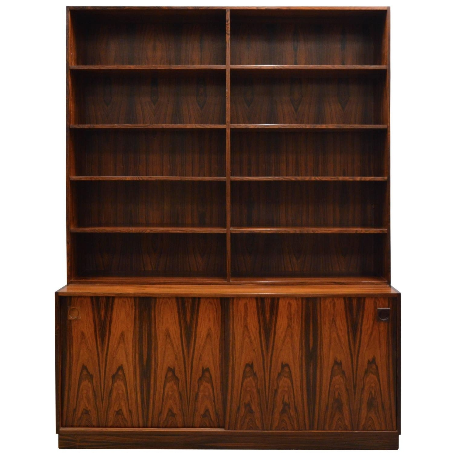 2018 Mid Century Bookcases In Mid Century Modern Danish Rosewood Bookcase For Sale At 1Stdibs (View 2 of 15)