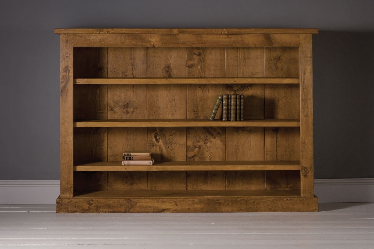 2018 Rustic Bookcases Made In Solid Wood & Oak (View 2 of 15)