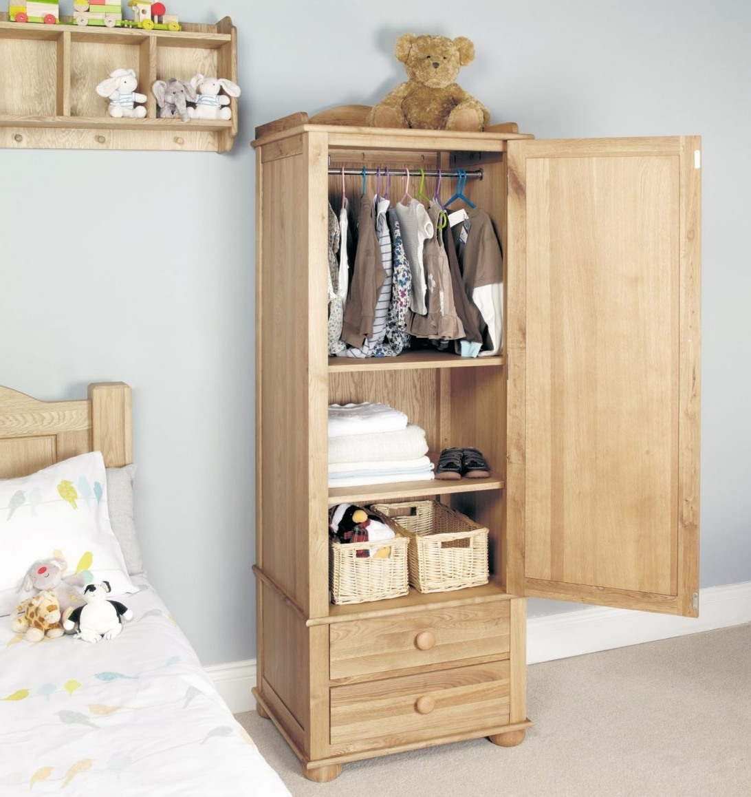 2018 Single Wardrobe With Drawers Ikea Small Childrens Oak Black Uk With Regard To Childrens Wardrobes With Drawers And Shelves (View 3 of 15)