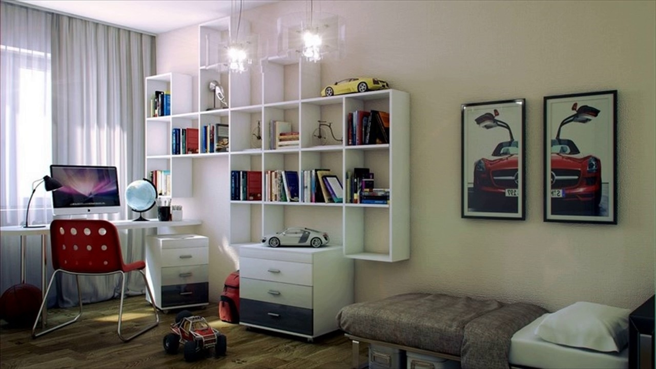 2018 Study Shelving Ideas Intended For Bookshelf Ideas – Living Room & Study Design Ideas – Youtube (View 4 of 15)