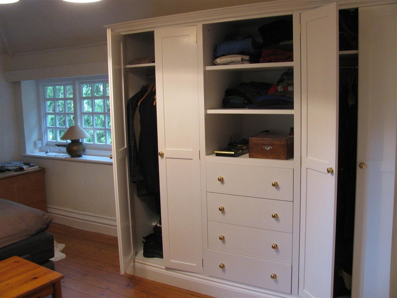 2018 Wardrobe Cabinet With Shelves Drawers And One Door Single With Regard To Wardrobe With Shelves And Drawers (View 3 of 15)