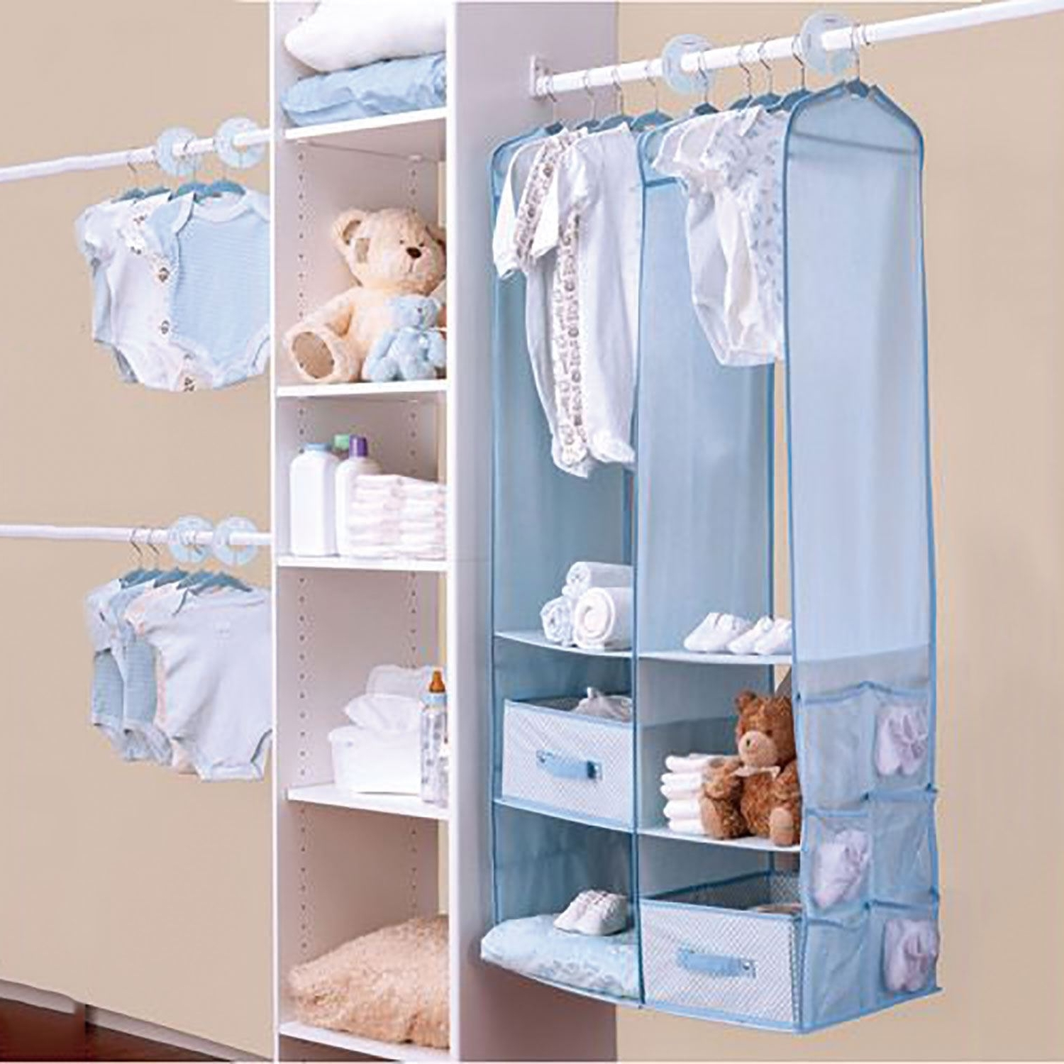 24Pc Childrens Kids Baby Nursery Closet Organiser Hanging Wardrobe With Regard To Famous Cheap Baby Wardrobes (View 3 of 15)