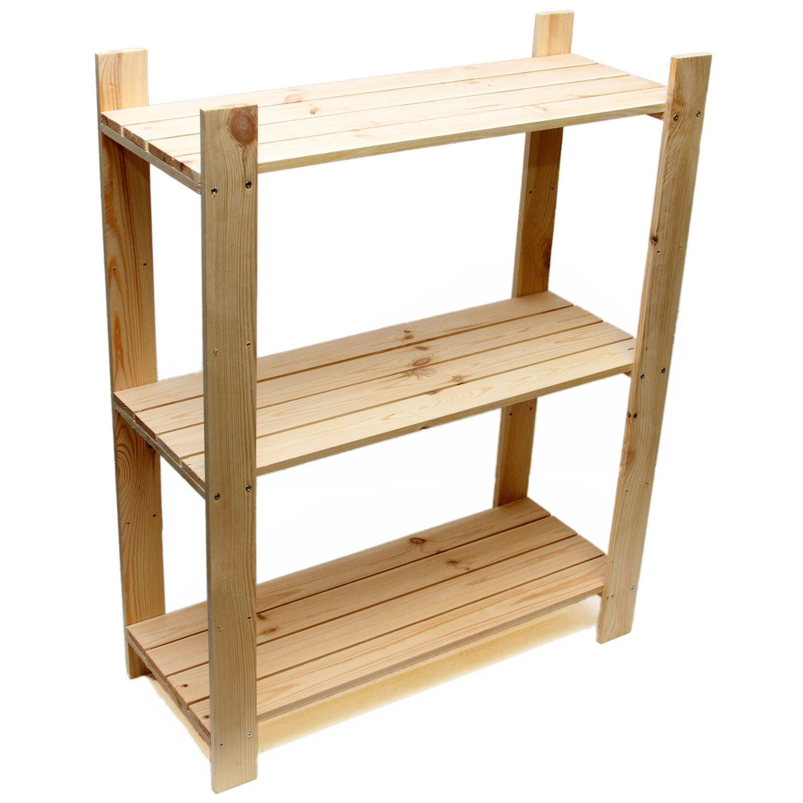 3 Tier Pine Shelf Unit – Pine Shelves With 3 Wooden Shelves With Regard To Well Known Wooden Shelving Units (View 6 of 15)
