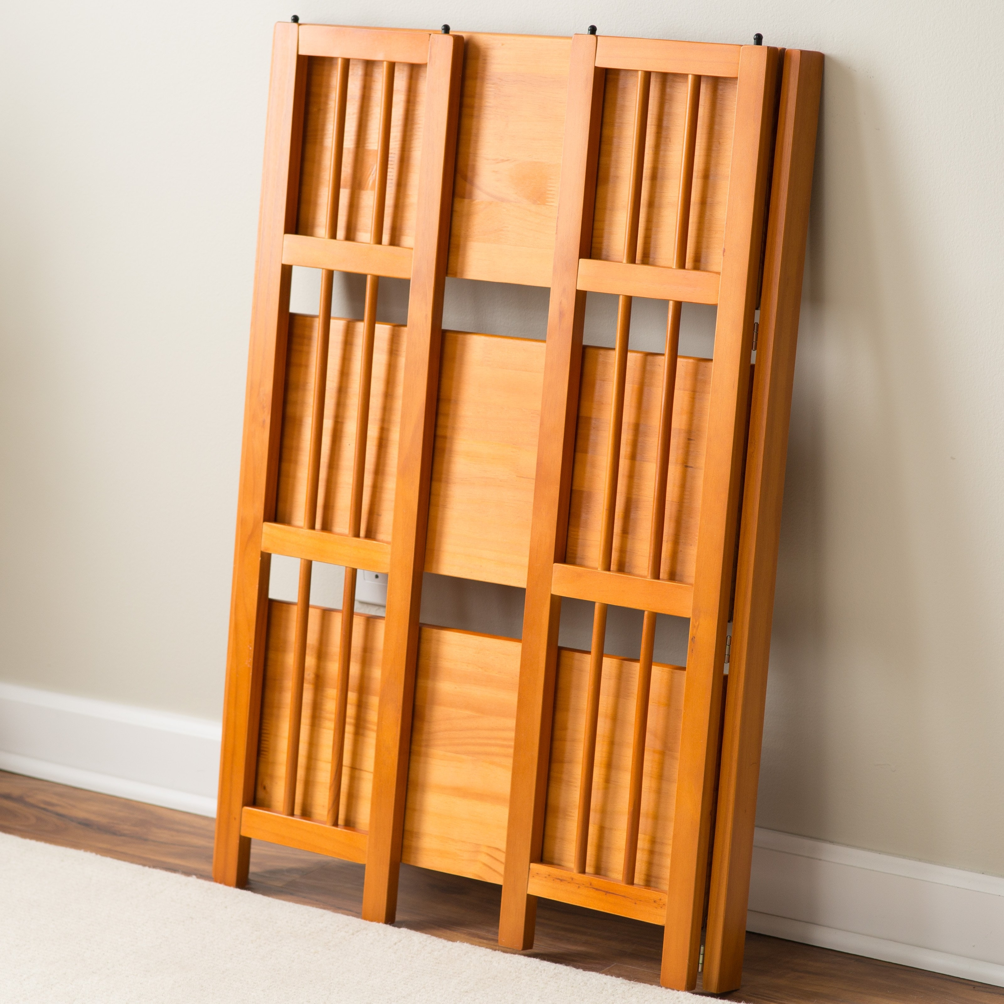 3 Tier Stackable Folding Bookcase (Gallery 11 of 15)