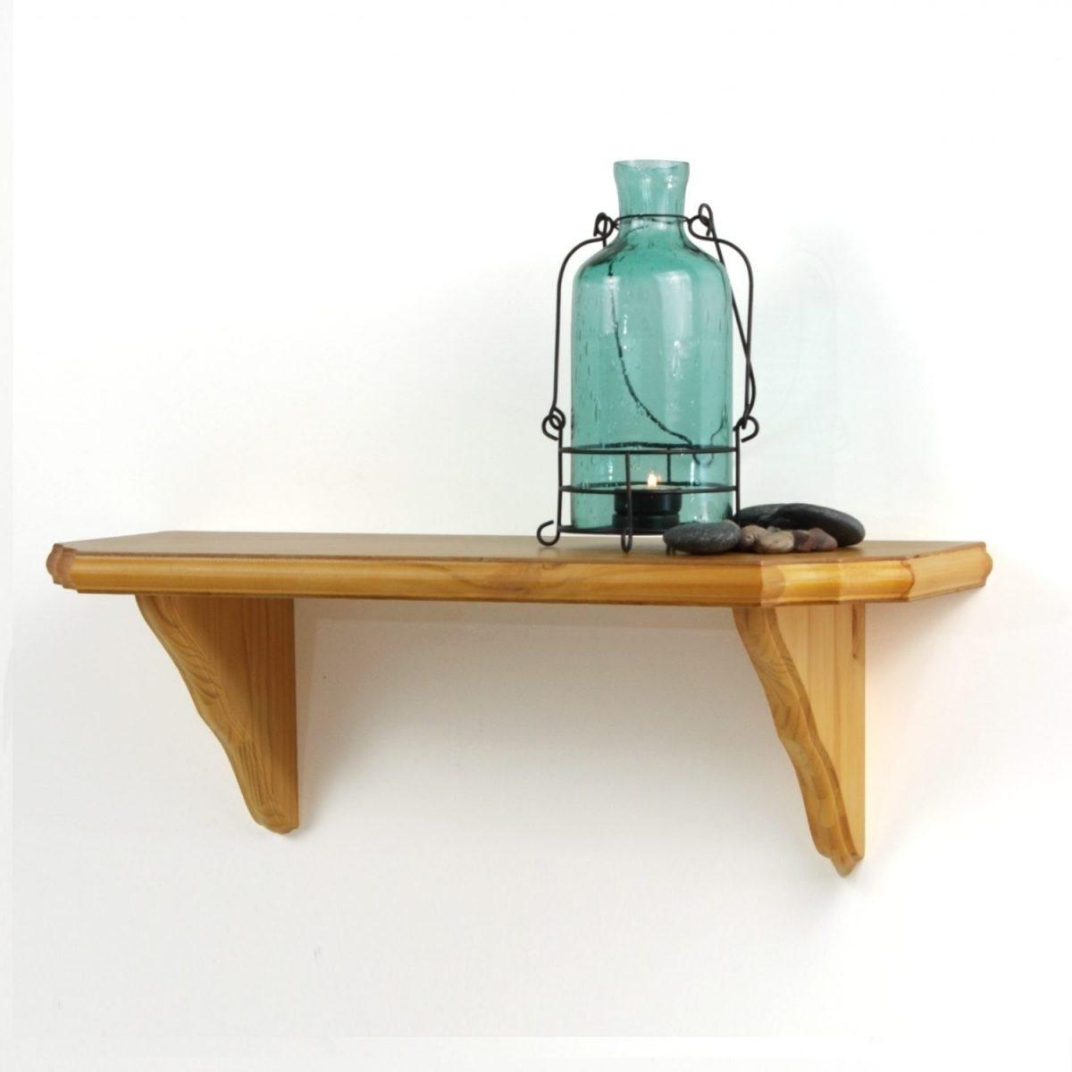 36 In. W Venezia Oak Wall Shelf Kit W/ Brackets – Hyman Inc. In Well Known Oak Wall Shelves (Gallery 8 of 15)