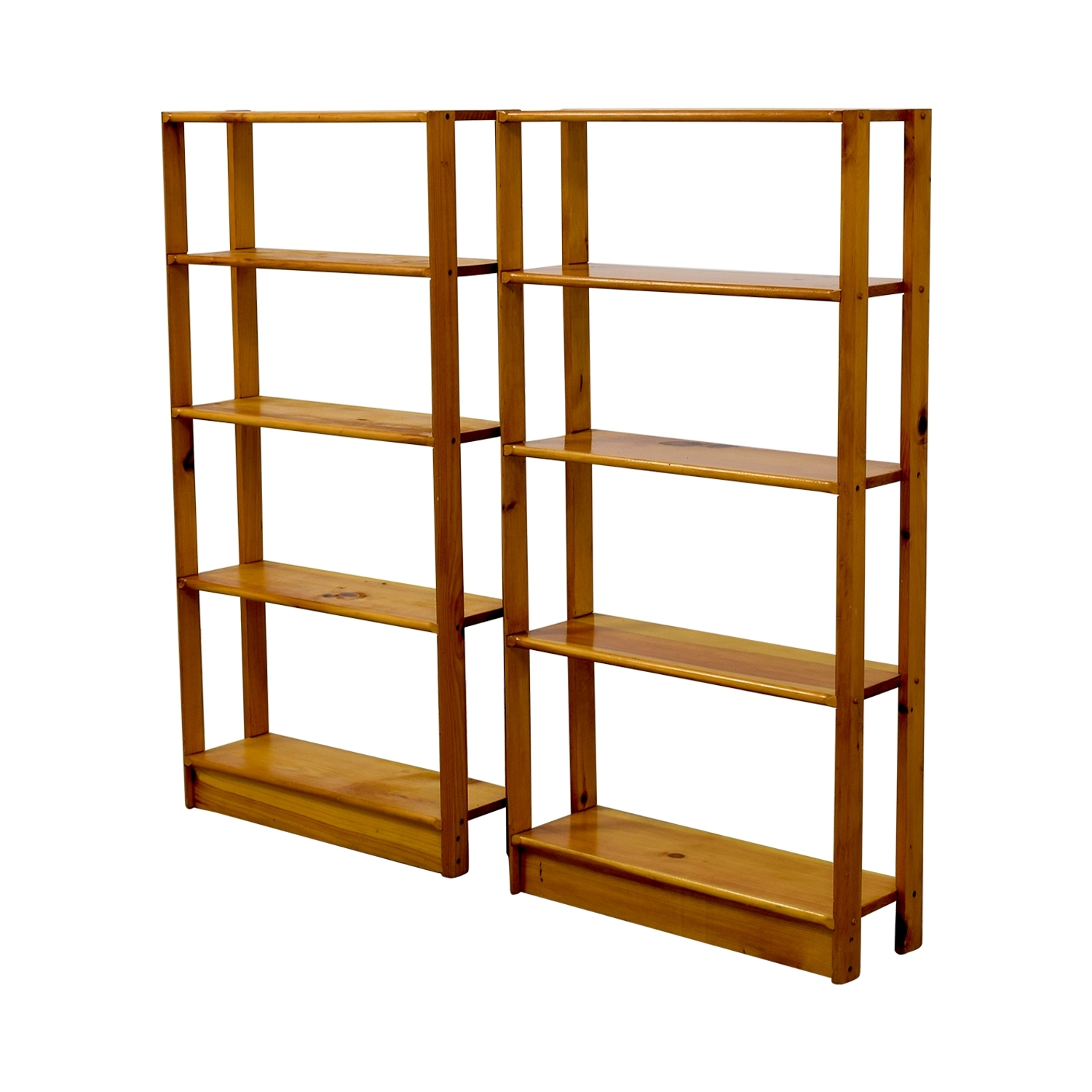 [%44% Off – Slim Light Brown Wooden Bookshelves / Storage With Regard To Fashionable Wooden Bookshelves|Wooden Bookshelves Intended For Popular 44% Off – Slim Light Brown Wooden Bookshelves / Storage|2018 Wooden Bookshelves Intended For 44% Off – Slim Light Brown Wooden Bookshelves / Storage|Most Up To Date 44% Off – Slim Light Brown Wooden Bookshelves / Storage In Wooden Bookshelves%] (View 1 of 15)