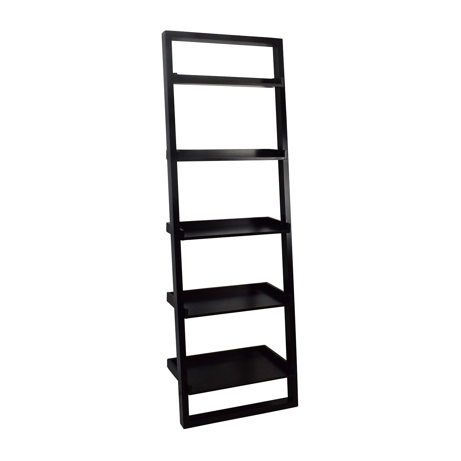 49 Off Crate And Barrel Sloane Leaning Bookcase Throughout