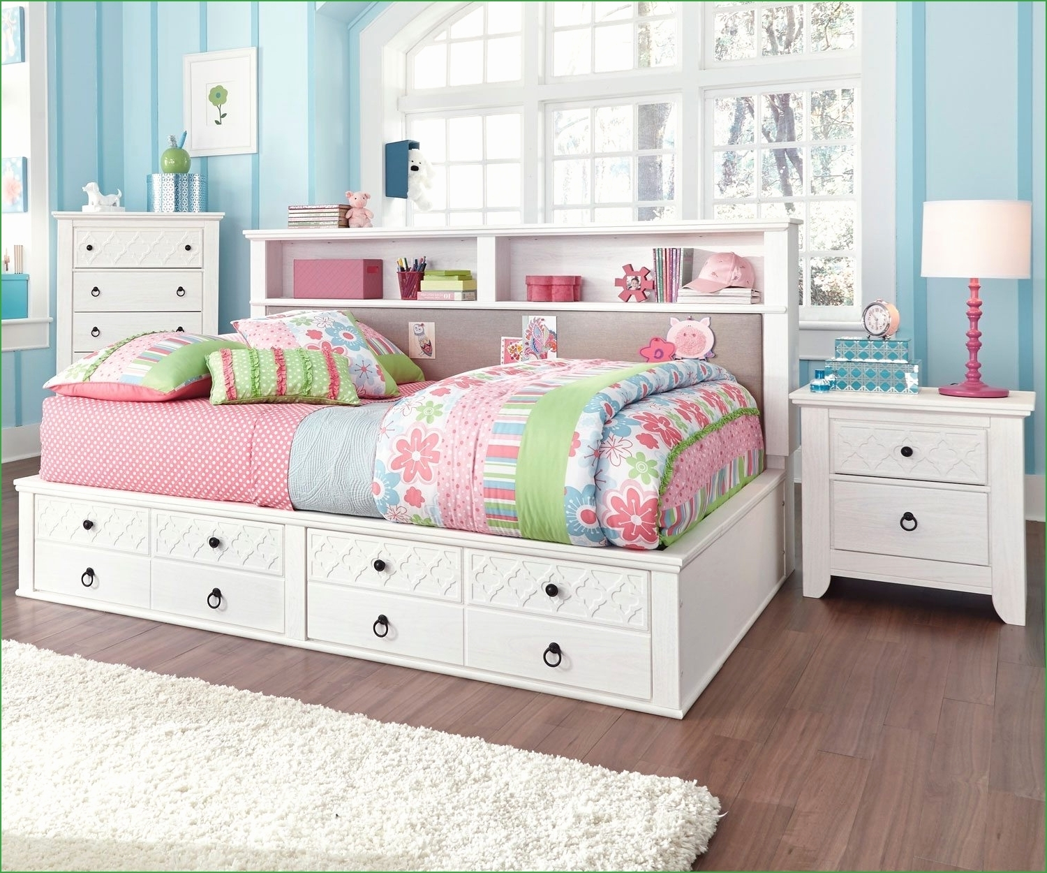 50 Elegant Full Size Storage Bed With Bookcase Headboard – For Best And Newest Full Size Storage Bed With Bookcases Headboard (View 10 of 15)