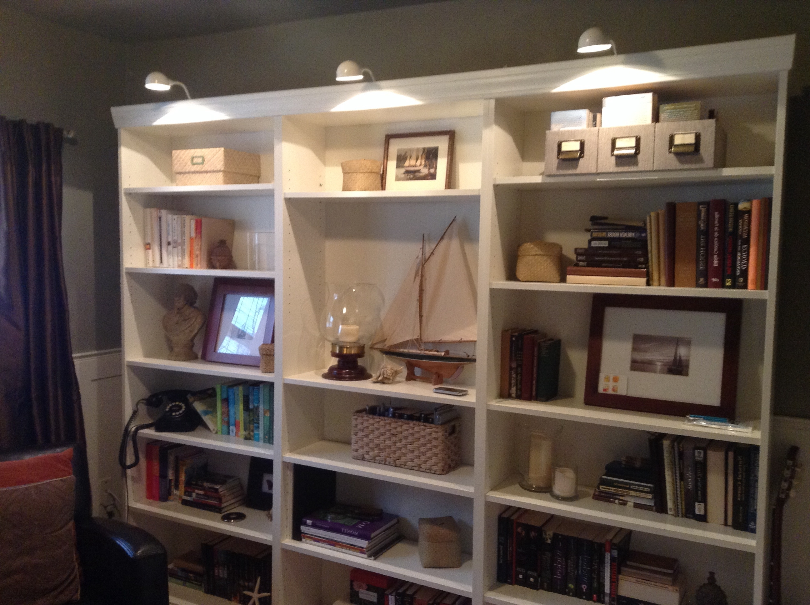 55 Book Shelf Lighting, Bookshelf Lighting Houzz Throughout Well Known Bookcases Lighting (View 2 of 15)