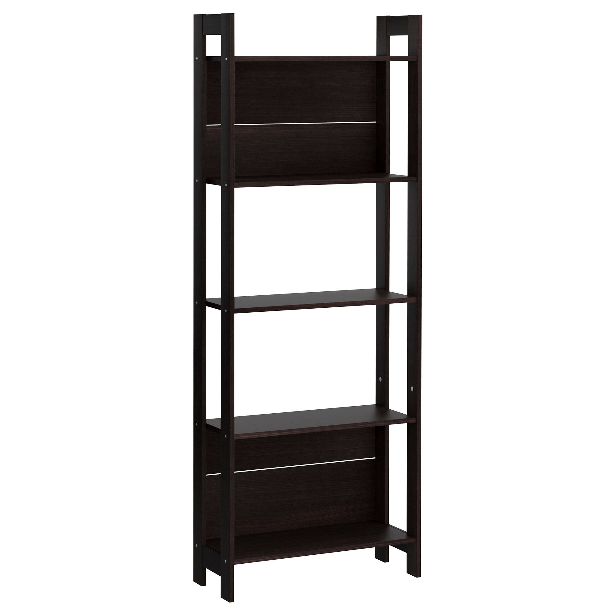 8 Inch Deep Bookcases For Well Known Laiva Bookcase, Black Brown (Gallery 4 of 15)