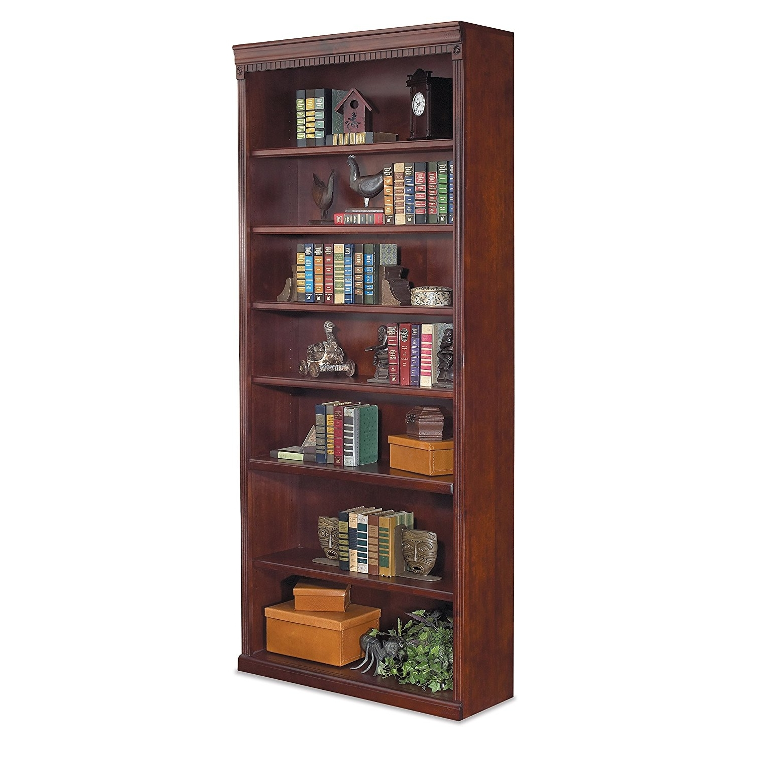 84 Inch Tall Bookcases For Most Recently Released Amazon: Martin Furniture Huntington Club Office Open Bookcase (Gallery 6 of 15)