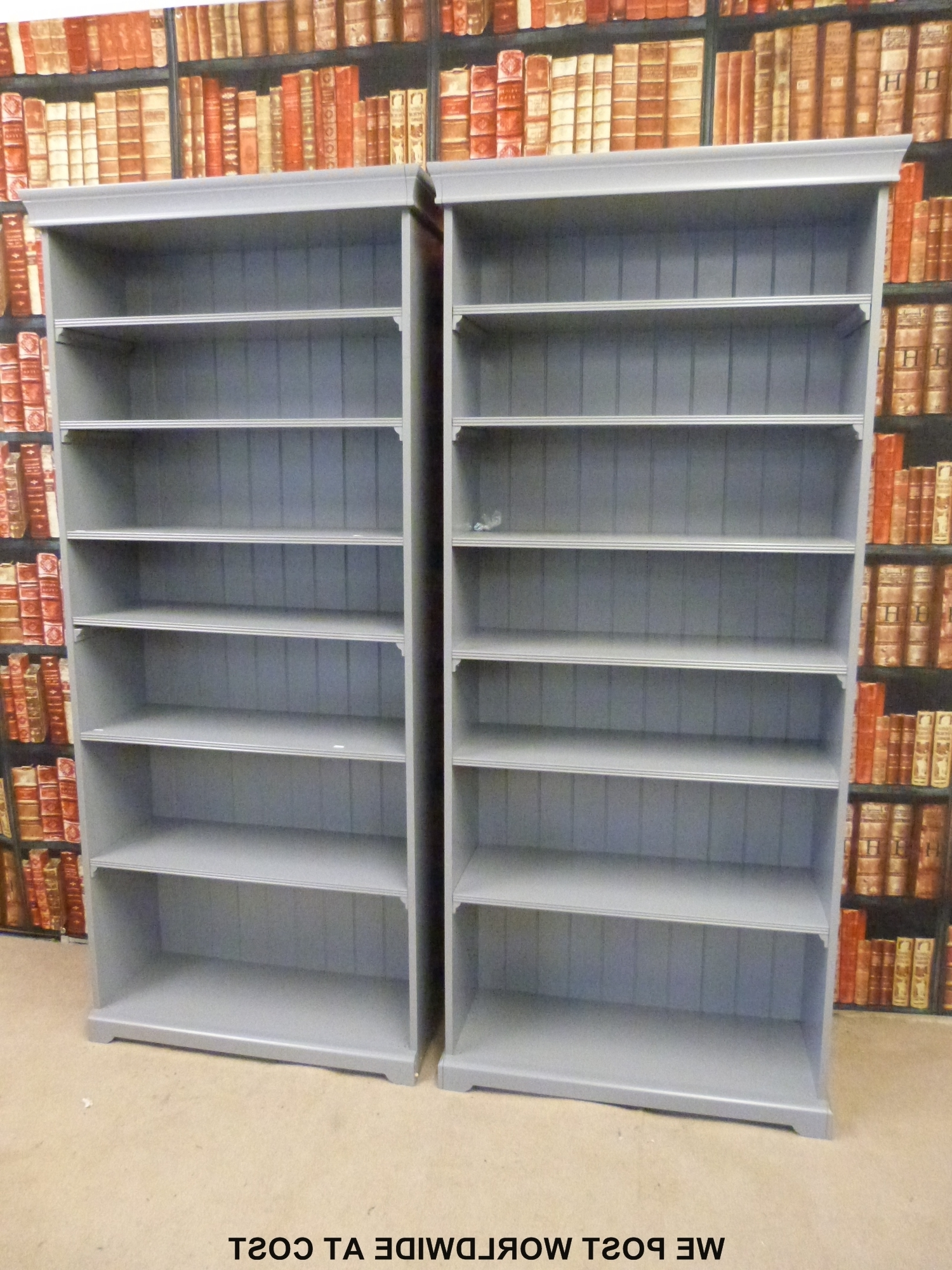 A Pair Of Grey Ikea Liatorp Bookcases With Adjustable Shelves (W96 With Fashionable Liatorp Bookcases (View 1 of 15)