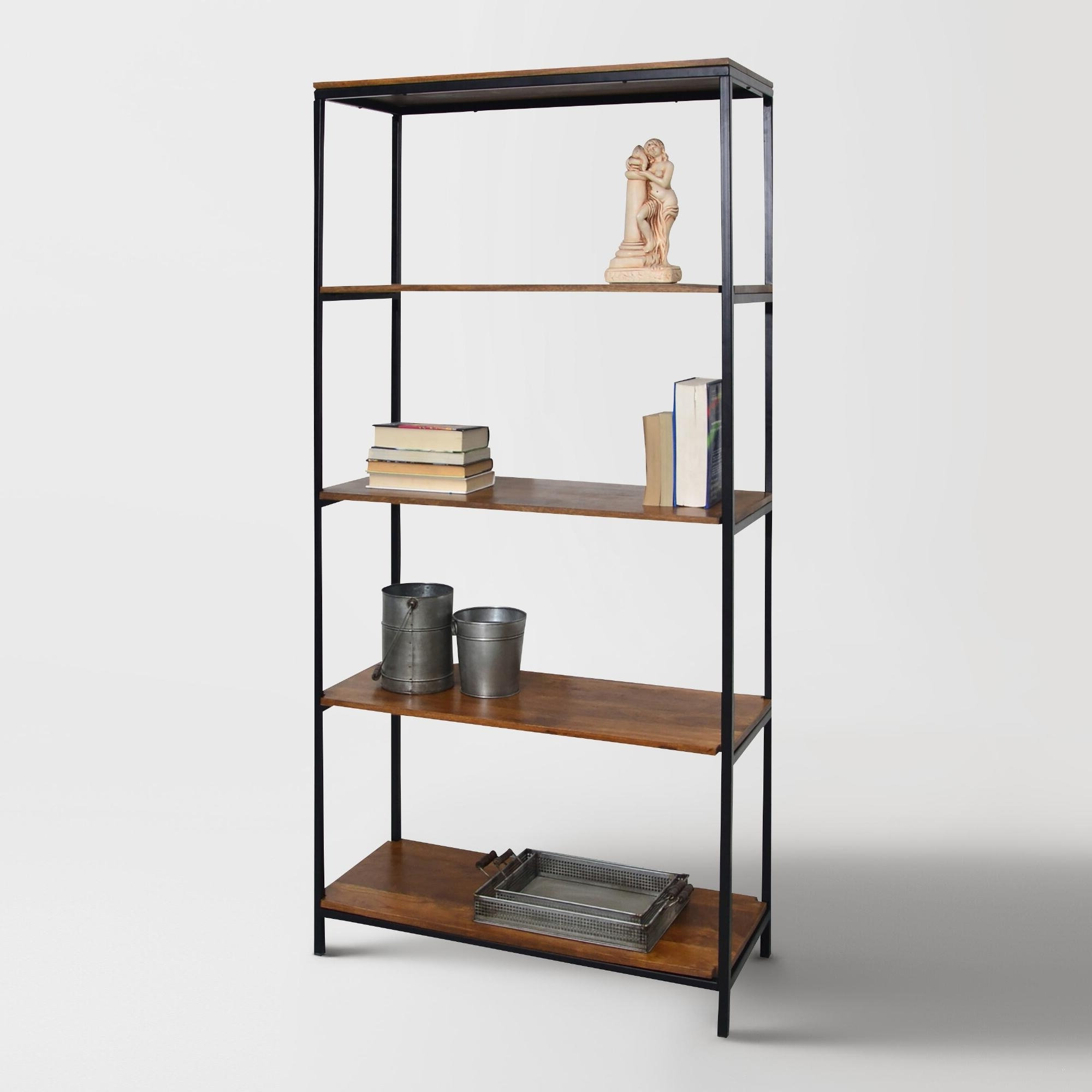 Accessories Furnitureastounding Metal Narrow Wood Bookcase And Intended For Most Recently Released Wood And Metal Bookcases (View 13 of 15)