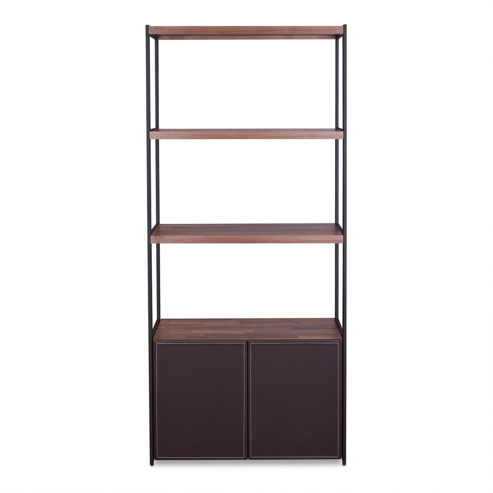 Acme Furniture Sara Walnut And Sandy Black Bookcase 92442 – The Pertaining To Most Popular Black Bookcases (View 13 of 15)