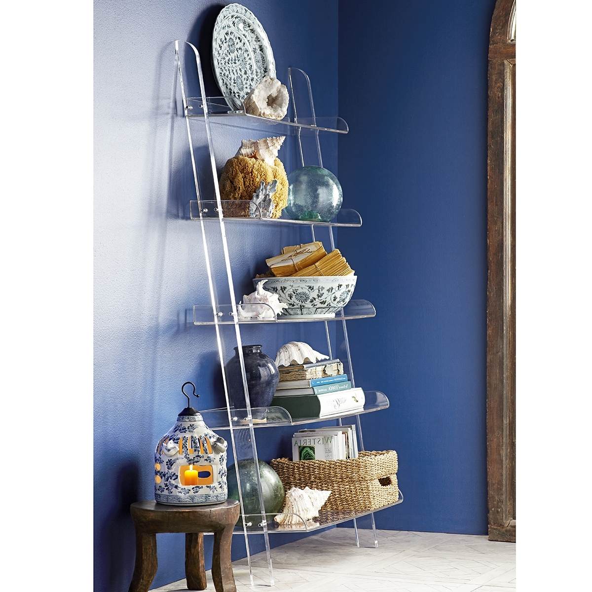 Acrylic Bookcases In Fashionable Acrylic Leaning Bookshelf (View 11 of 15)