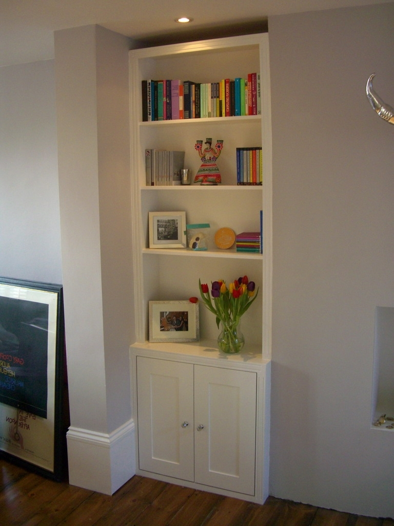 Alcove Bookcases Pertaining To Well Known Trad Alcove Bookcase / Cupboard Option (View 2 of 15)