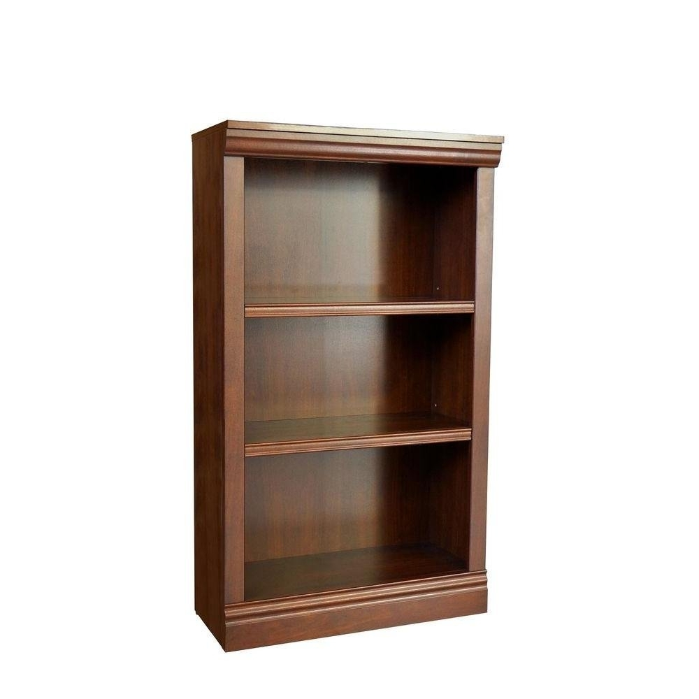 Amazon: 3 Shelf Decorative Bookcase In Dark Brown: Kitchen For Well Liked Three Shelf Bookcases (View 15 of 15)