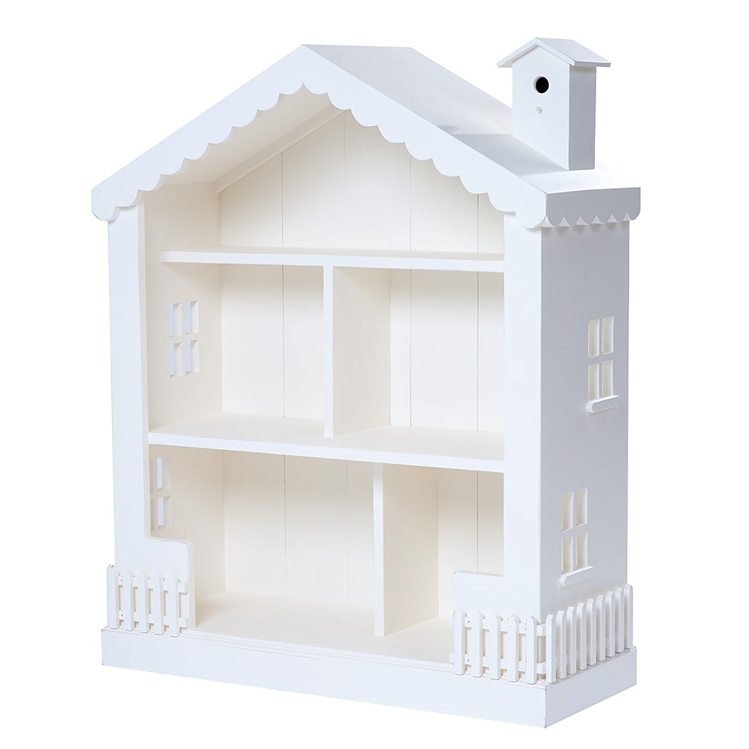 Amazon: Alice Dollhouse Bookcase Snow: Kitchen & Dining In Trendy Dollhouse Bookcases (View 2 of 15)