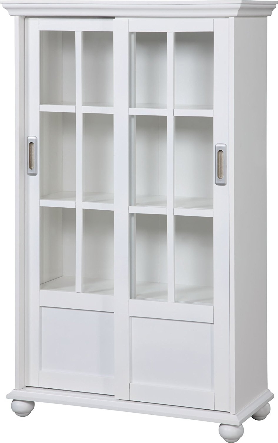 Amazon: Altra 9448096 Bookcase With Sliding Glass Doors, White Inside Preferred Amazon Bookcases (View 5 of 15)
