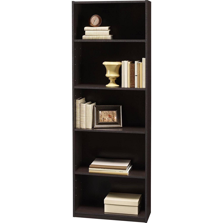Amazon: Ameriwood 5 Shelf Bookcases, Set Of 2, Espresso With Regard To Trendy White 5 Shelf Bookcases (View 3 of 15)