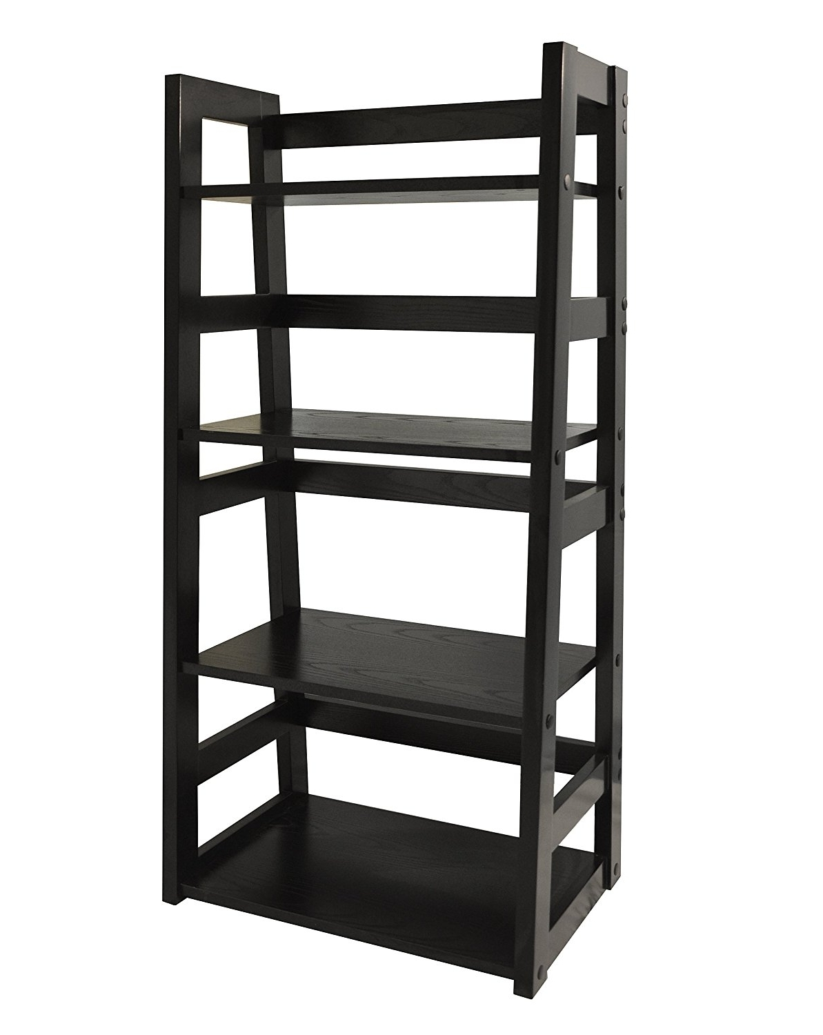 Amazon: Convenience Concepts Traditional 4 Tier Trestle Intended For Well Liked Black Bookcases (View 10 of 15)