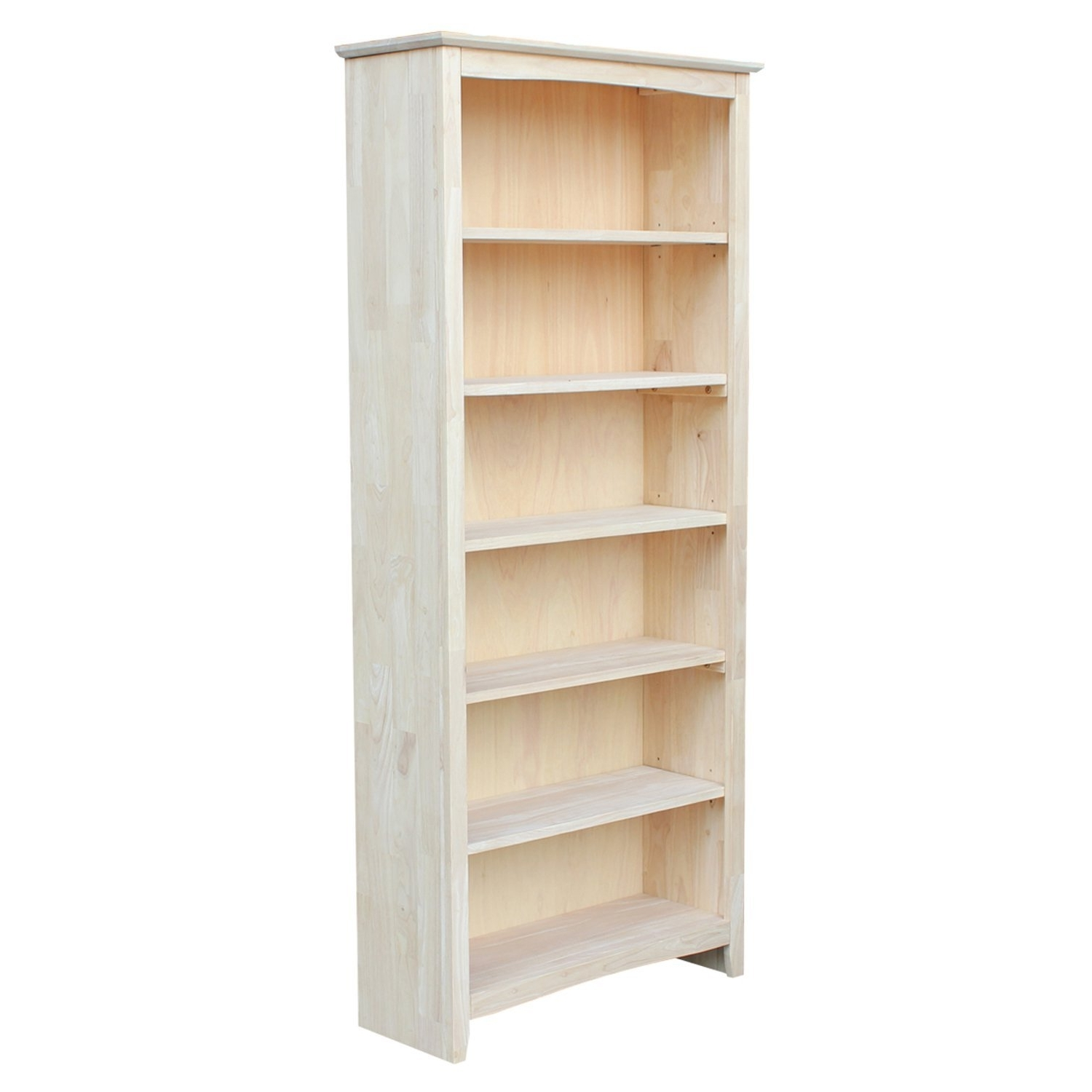 Amazon: International Concepts Shaker Bookcase, 72 Inch Regarding Favorite Unfinished Wood Bookcases (View 5 of 15)