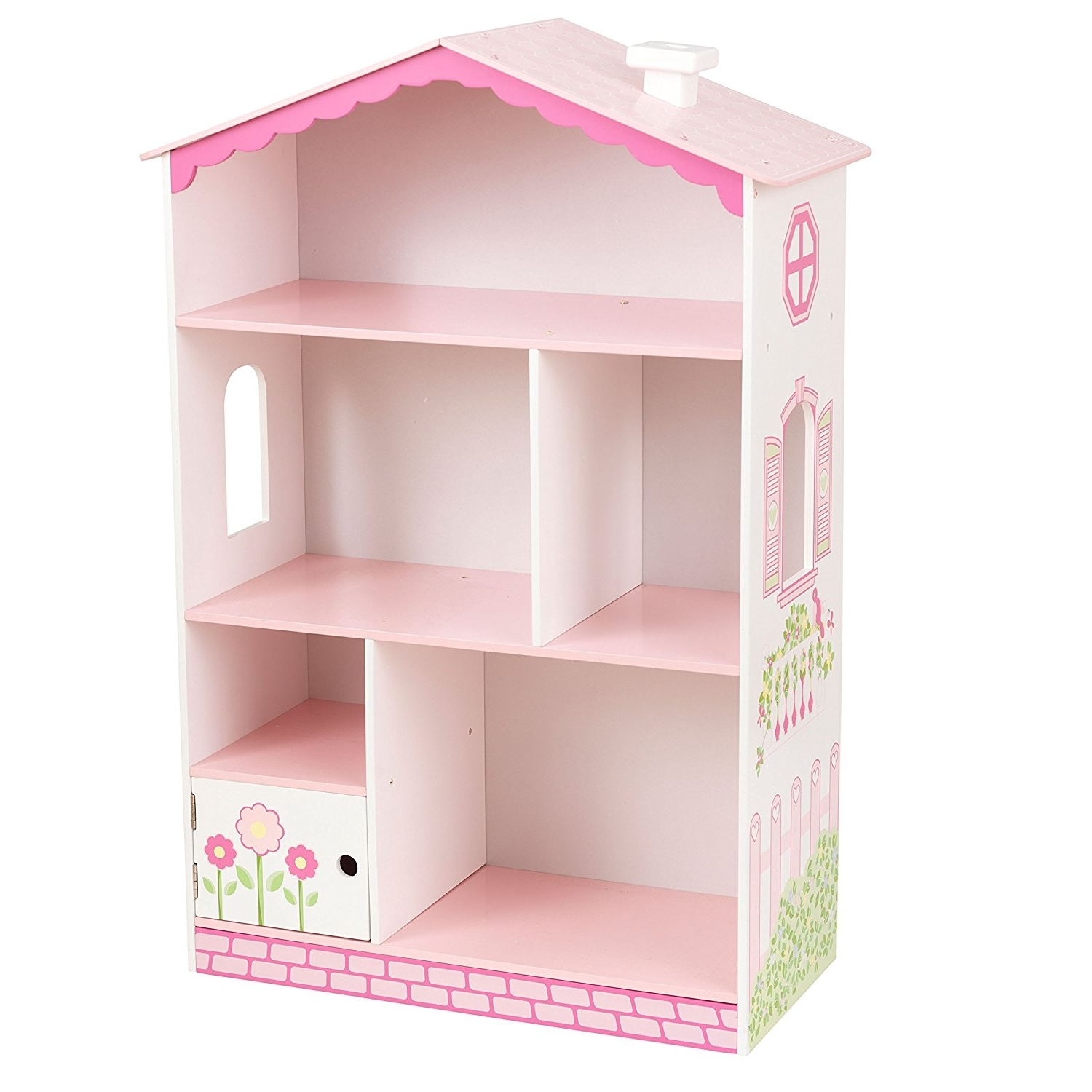Amazon: Kidkraft Dollhouse Cottage Bookcase: Toys & Games Within Well Liked Dollhouse Bookcases (View 3 of 15)