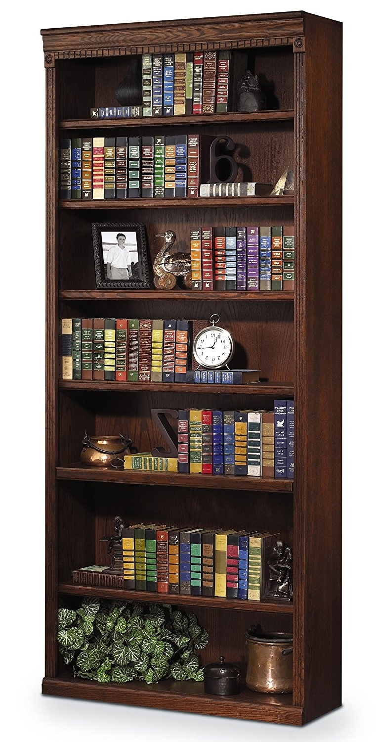 "Amazon: Martin Furniture Huntington Oxford 84"" Open Bookcase Within Popular 84 Inch Tall Bookcases (View 8 of 15)"