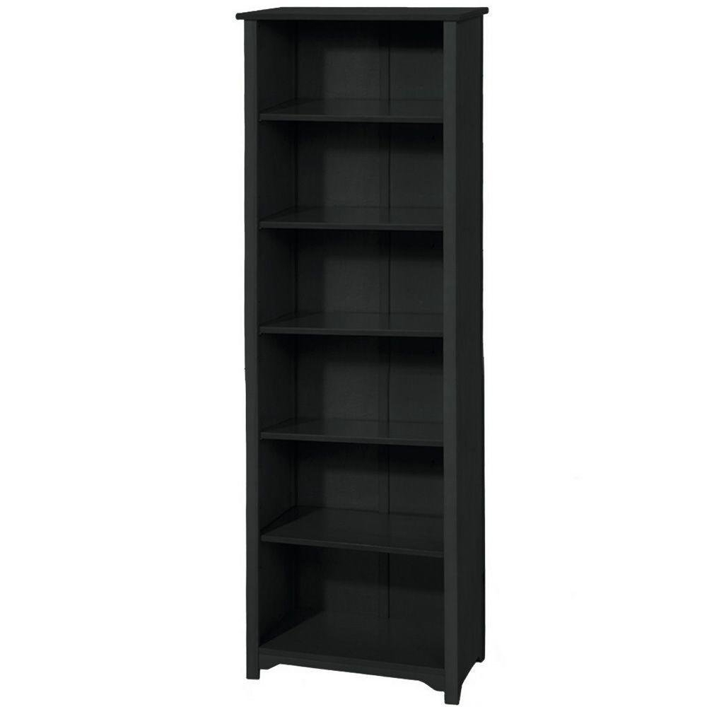 Amazon: Oxford 36 Inch Black Six Shelf Open Bookcase, Six Intended For Preferred Open Bookcases (View 9 of 15)