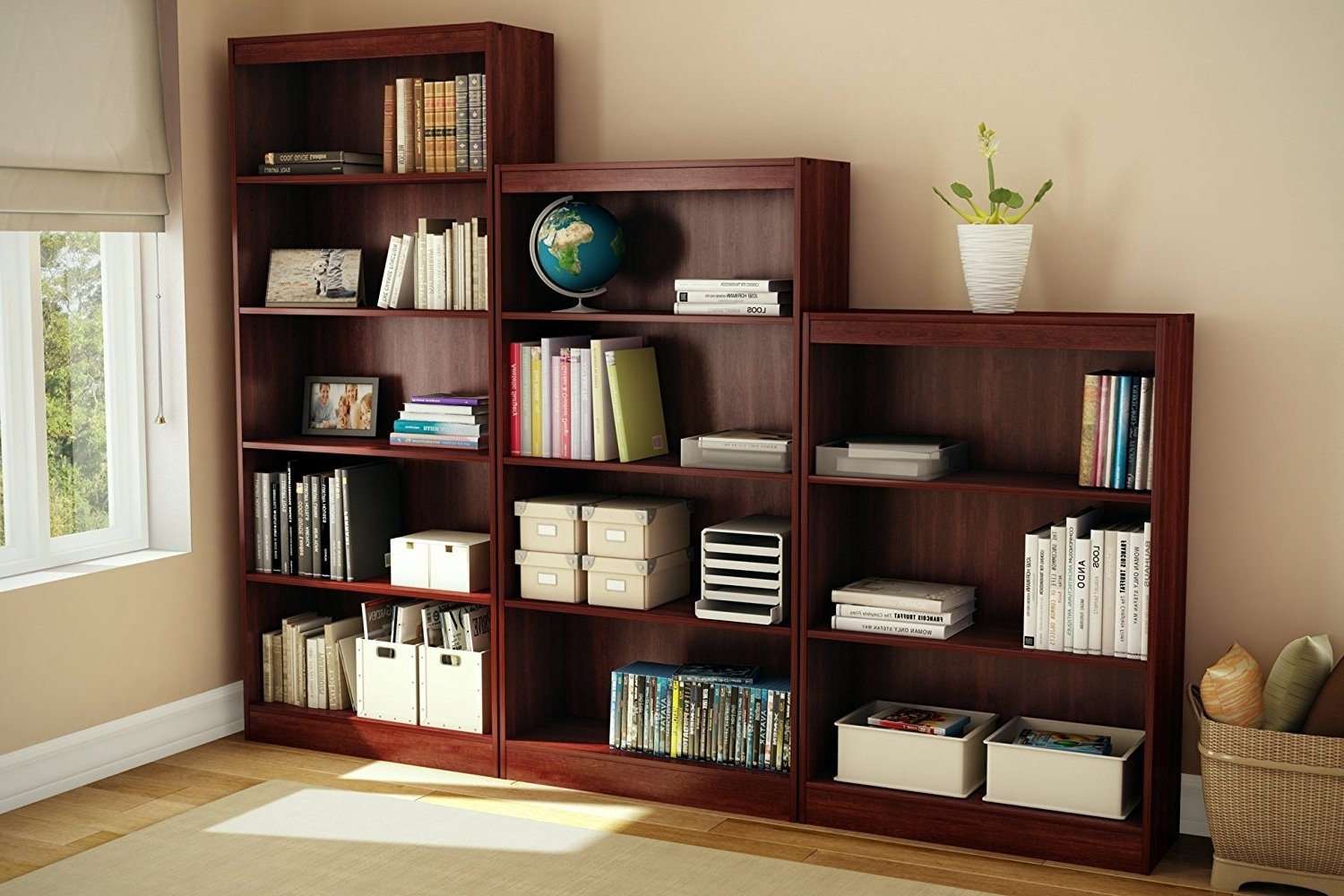 Amazon: South Shore Axess Collection 5 Shelf Bookcase, Royal Within Recent South Shore Bookcases (View 6 of 15)