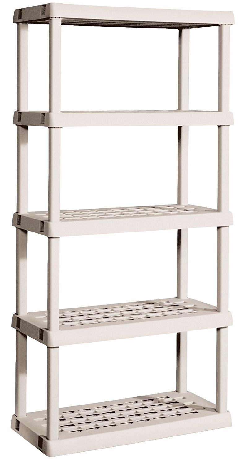 Amazon: Sterilite 01558501 5 Shelf Unit With Light Platinum Within Most Recently Released Storage Shelving Units (View 1 of 15)